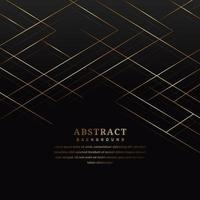 Luxus golden gekreuzte Linien auf schwarz