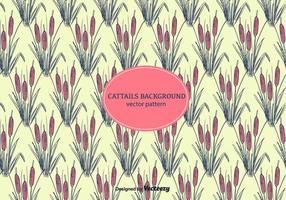 Cattails bakgrundsvektor vektor