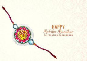 färgglad dekorerad rakhi för indisk festival vektor