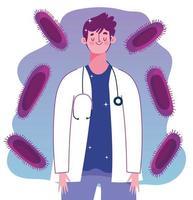 läkare personal virusinfektion medicinsk hälsovaccination vektor