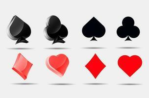 Spielkartenanzüge gesetzt vektor