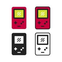 einfache Spiel-Gadget-Symbolsammlung vektor