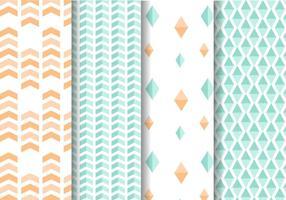 Mint och persika geometriska mönstervektor vektor
