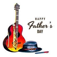 vackra lyckliga fars dag kortdesign vektor