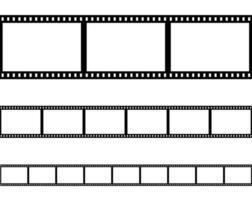 nahtlose flache Filmstreifen gesetzt vektor