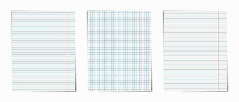 Notizbuch-Layout-Seitenpaket vektor