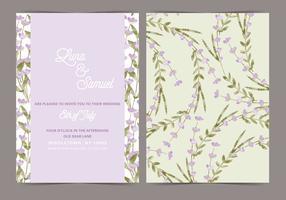 Lavendel Vector Bröllop Inbjudan