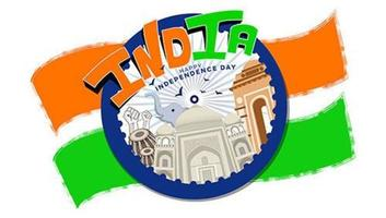 Unabhängigkeitstag die Freiheitsfeier Indiens