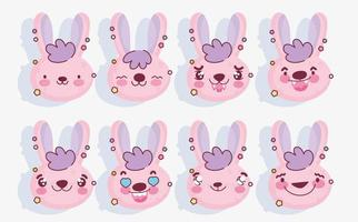 rosa Kaninchen Emoji Packung