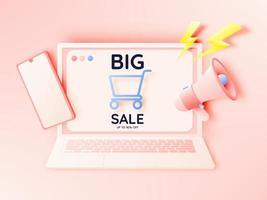 Verkauf Banner Laptop vektor