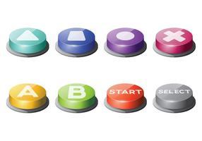 Kostenlose Arcade Button Vektoren