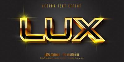 Lux Text glänzend Gold Stil bearbeitbaren Texteffekt