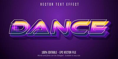 Tanztext mit Umrissen vektor
