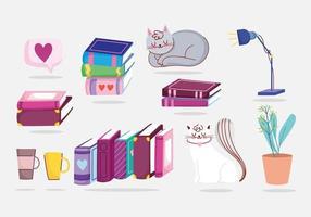 Bücher und Katzen packen