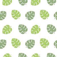 gröna tropiska blad sömlösa mönster vektor