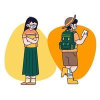 unga människor som bär masker
