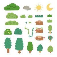 enkel platt naturresurssamling vektor