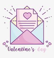 Valentinstag Brief mit Herzen