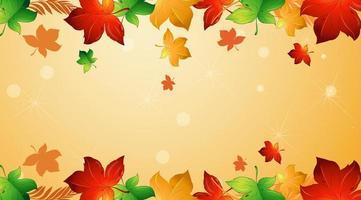Designvorlage mit fallenden Blättern vektor