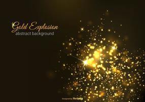 Freie Gold Explosion Vektor Hintergrund
