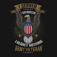 Armee Veteran Opfer Design vektor