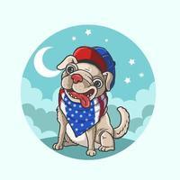 süßer amerikanischer Hund vektor