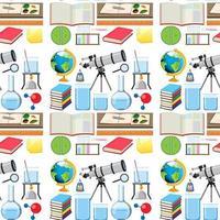 nahtloses Hintergrunddesign mit Schulausrüstungen