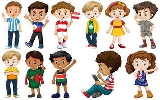 Set von Kindern aus verschiedenen Ländern vektor