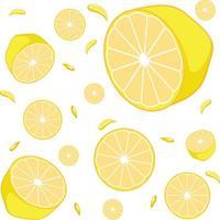 sömlös bakgrundsdesign med citroner vektor