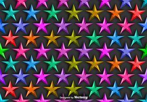 Vektor bakgrund med färgstarka 3D stjärnor sömlösa mönster