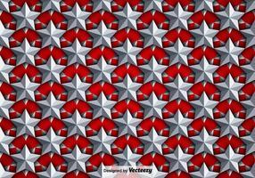 Vector Hintergrund mit Silber 3D Sterne Nahtlose Muster