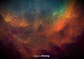 Vektor vattenfärgad galaxstruktur
