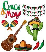 Set für das Cinco de Mayo Festival vektor