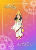 navarati affisch med gudinna vektor