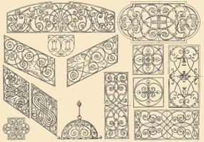 Dekorative Bügeleisen vektor