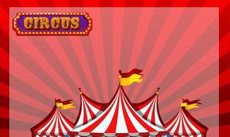 gräns mall med cirkus design vektor