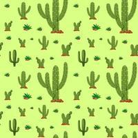 kaktus sömlösa mönster
