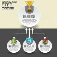 anslutna papperscirkel infographic