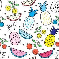 nahtloses Muster der tropischen Frucht vektor