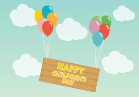 Ballonger Happy Children Day Vector
