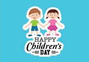 Lycklig barn dag vektor
