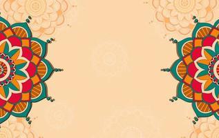 Mandala Muster Hintergrundvorlage vektor