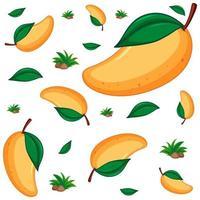 sömlös bakgrundsdesign med mango vektor