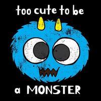 för söt för att vara ett monster vektor