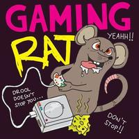 Gaming-Ratten-Cartoon vektor