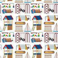 Satz Kinderspielplatz im Park nahtlos vektor