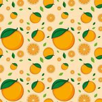 nahtloses Hintergrunddesign mit Orangen vektor