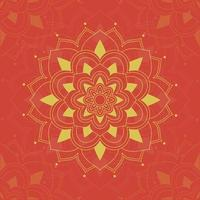 Mandalamuster auf Rot