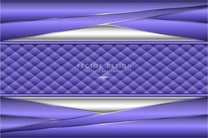 metallisch abgewinkelte lila und silberne Platten mit Polstertextur