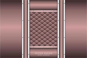 Metallic Pink und Silber Paneele und Polster Textur